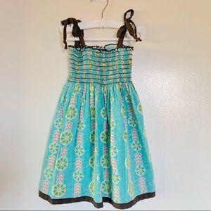 Paulina Quintana turquoise summer dress